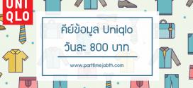 งานพิเศษ Uniqlo คีย์ข้อมูลลง excel รายได้เฉลี่ยวันละ 800 บาท