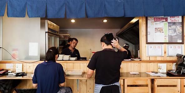 งานพิเศษ ทงจิงกังราเมน งานบริการร้านอาหารญี่ปุ่น รายได้ดี