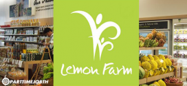 สมัครงานร้านเลมอนฟาร์ม ร้านสุขภาพ บริการผัก-ผลไม้อินทรีย์