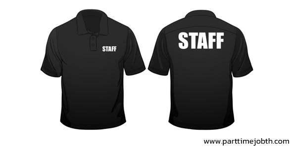 สมัครงาน STAFF ติดสติ๊กเกอร์